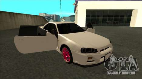 Nissan Skyline R34 Drift JDM para vista lateral GTA San Andreas