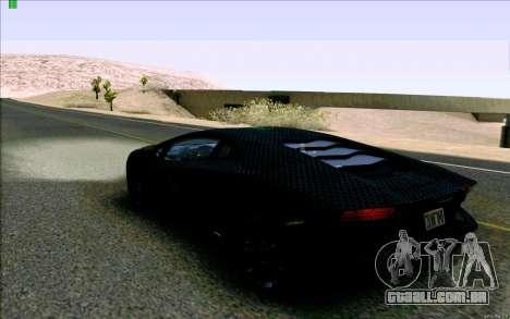 Lamborghini Aventador LP-700 Razer Gaming para GTA San Andreas traseira esquerda vista
