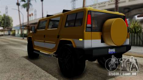 Luchadores Bulldog (Patriot) from SR3 para GTA San Andreas esquerda vista
