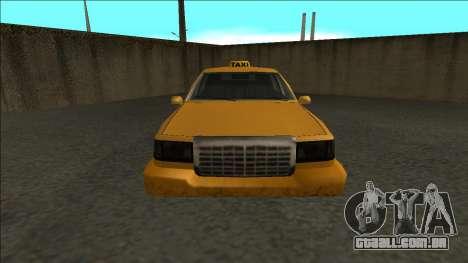 Stretch Sedan Taxi para GTA San Andreas vista direita