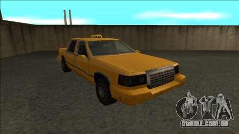 Stretch Sedan Taxi para GTA San Andreas vista traseira