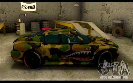 Bravado Buffalo Camo Shark Mouth para GTA San Andreas esquerda vista