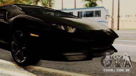 Lamborghini Aventador LP-700 Razer Gaming para GTA San Andreas vista superior