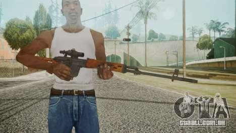 SVD Battlefield 3 para GTA San Andreas terceira tela