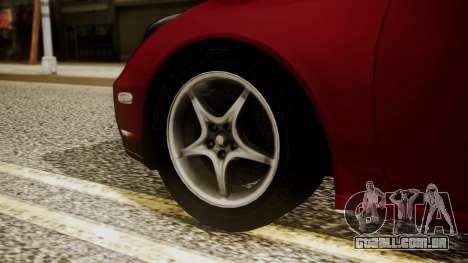 Toyota Celica SS2 Tunable para GTA San Andreas traseira esquerda vista