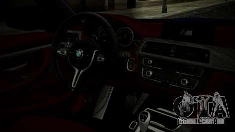 BMW M4 Coupe 2015 Brushed Aluminium para GTA San Andreas vista direita