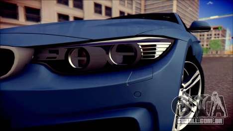 BMW 4 Series Coupe M Sport para GTA San Andreas vista direita