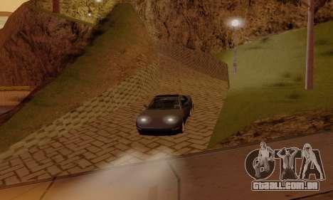 ENB Settings by LaiM para GTA San Andreas por diante tela