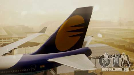 Boeing 747-400 Jat Airways para GTA San Andreas traseira esquerda vista