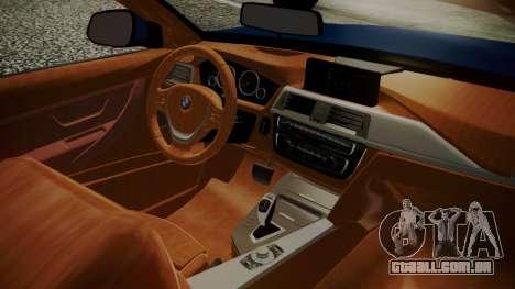 BMW M4 F32 Convertible 2014 para GTA San Andreas traseira esquerda vista