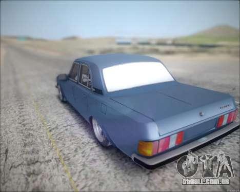 Volga 3102 para GTA San Andreas traseira esquerda vista