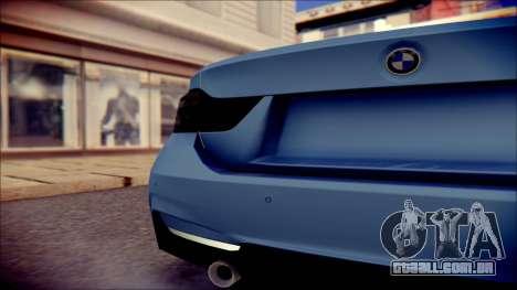BMW 4 Series Coupe M Sport para GTA San Andreas vista traseira