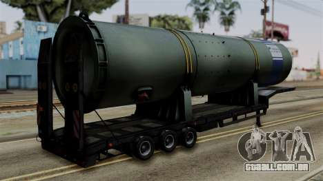 Overweight Trailer Black para GTA San Andreas esquerda vista