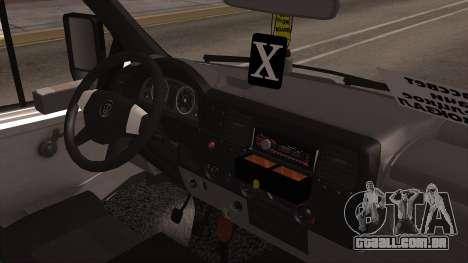 Gazela 2705 para GTA San Andreas traseira esquerda vista