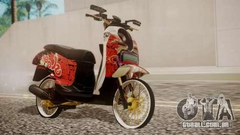 Honda Scoopy New Red para GTA San Andreas
