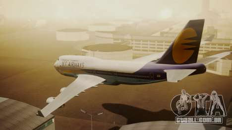 Boeing 747-400 Jat Airways para GTA San Andreas esquerda vista