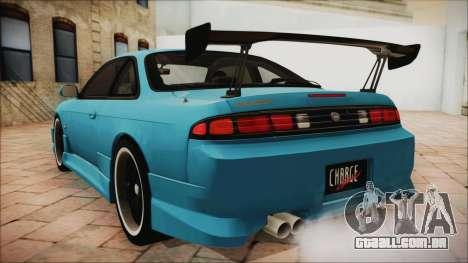 Nissan Silvia S14 Chargespeed Kantai Collection para GTA San Andreas esquerda vista