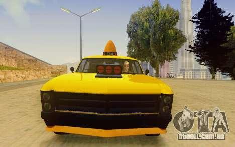 Albany Lurcher Taxi para GTA San Andreas vista traseira