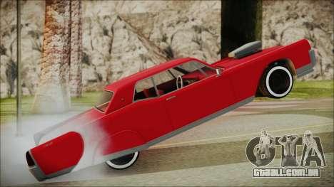 GTA 5 Vapid Chino Bobble Version IVF para GTA San Andreas traseira esquerda vista