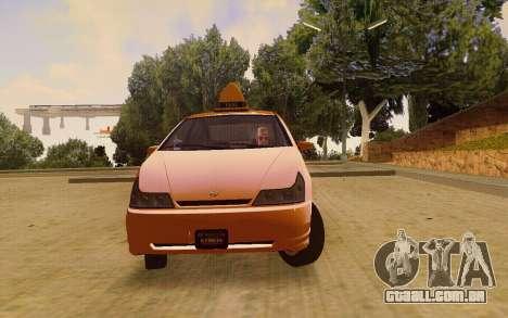 Karin Dilettante Taxi para GTA San Andreas vista direita