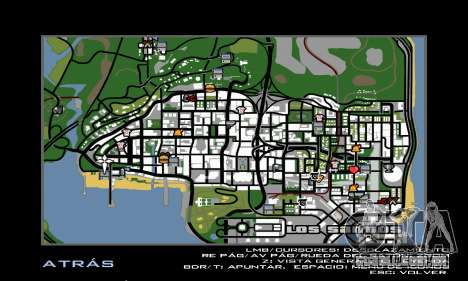 HD Radar Icons para GTA San Andreas segunda tela