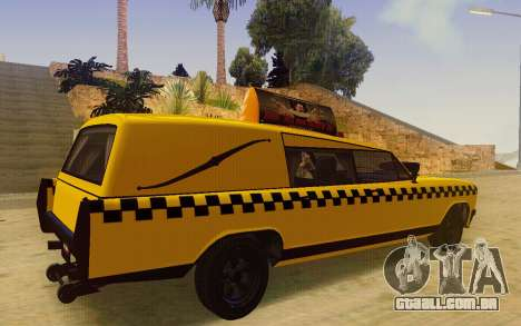 Albany Lurcher Taxi para GTA San Andreas traseira esquerda vista