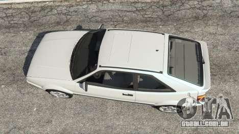 GTA 5 Volkswagen Corrado VR6 voltar vista