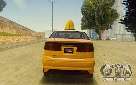 Karin Dilettante Taxi para GTA San Andreas esquerda vista