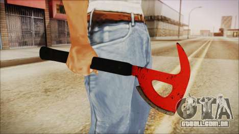 Plane Axe from The Forest para GTA San Andreas terceira tela