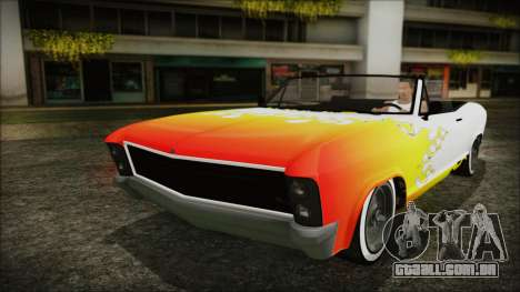 GTA 5 Albany Buccaneer Bobble Version para GTA San Andreas vista superior