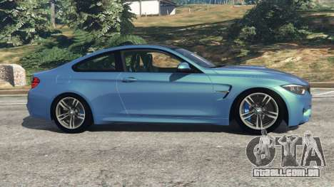 GTA 5 BMW M4 2015 vista lateral esquerda