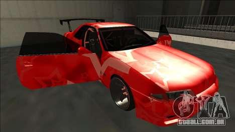 Nissan Skyline R32 Drift Red Star para GTA San Andreas vista inferior