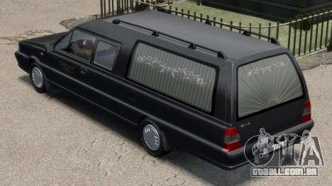 Daewoo-FSO Polonez Bella DC carro funerário 1998 para GTA 4 traseira esquerda vista