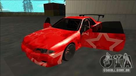 Nissan Skyline R32 Drift Red Star para vista lateral GTA San Andreas