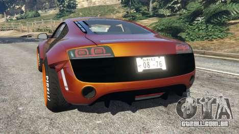 GTA 5 Audi R8 [LibertyWalk] traseira vista lateral esquerda