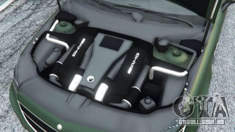 GTA 5 Mercedes-Benz CLS 63 AMG v1.0 traseira direita vista lateral