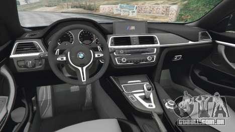GTA 5 BMW M4 2015 traseira direita vista lateral