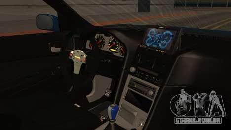 Nissan Skyline R34 FnF 4 para GTA San Andreas vista direita
