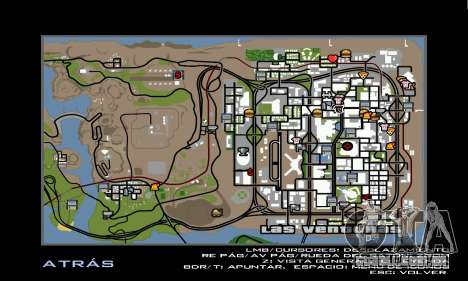 HD Radar Icons para GTA San Andreas por diante tela