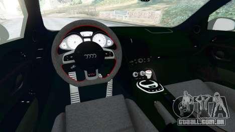 GTA 5 Audi R8 [LibertyWalk] traseira direita vista lateral