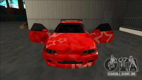 Nissan Skyline R32 Drift Red Star para GTA San Andreas vista superior