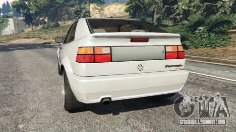 GTA 5 Volkswagen Corrado VR6 traseira vista lateral esquerda