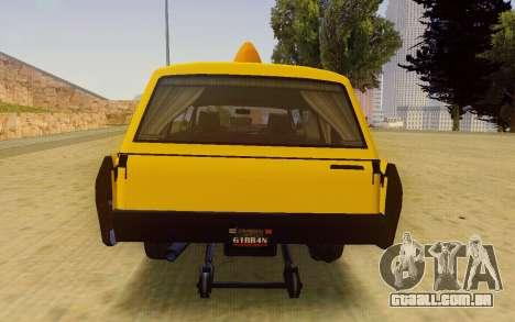 Albany Lurcher Taxi para GTA San Andreas vista direita