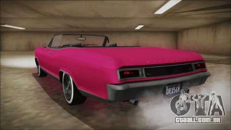 GTA 5 Albany Buccaneer Bobble Version para GTA San Andreas esquerda vista