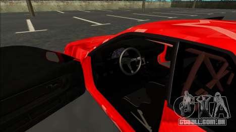 Nissan Skyline R32 Drift Red Star para GTA San Andreas vista interior
