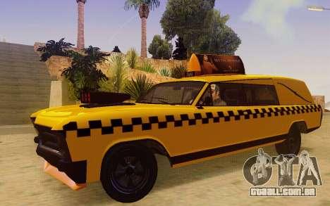 Albany Lurcher Taxi para GTA San Andreas esquerda vista