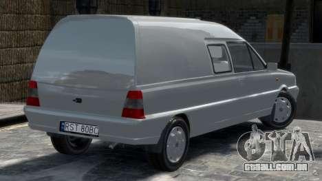 Daewoo-FSO Polonez Bella Blindado 2000 para GTA 4 traseira esquerda vista