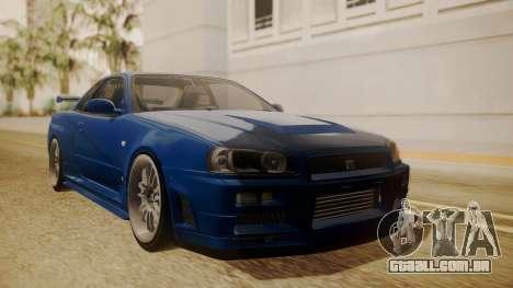 Nissan Skyline R34 FnF 4 para GTA San Andreas