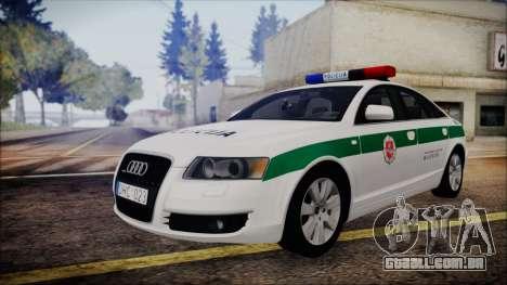 Audi A6 C6 Lithuanian Police para GTA San Andreas