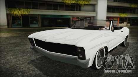 GTA 5 Albany Buccaneer Bobble Version para GTA San Andreas vista traseira